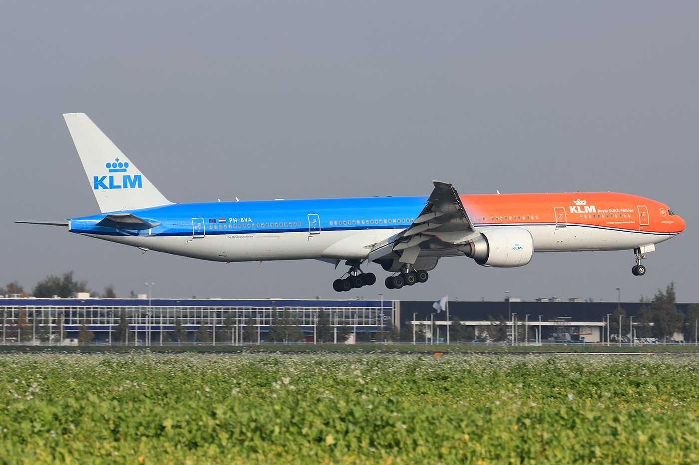 Re:[原创]【AMS】烂天来好货 KLM橙色骄傲77W BOEING 777-300ER PH-BVA 荷兰阿姆斯特丹史基浦机场