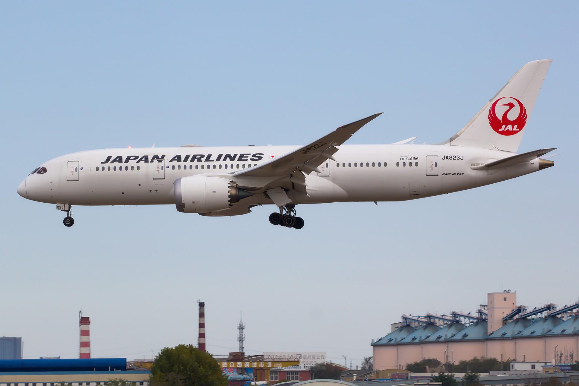 [原创][DLC]。。。宽体三张 。。。 BOEING 787-8 JA832J 中国大连国际机场