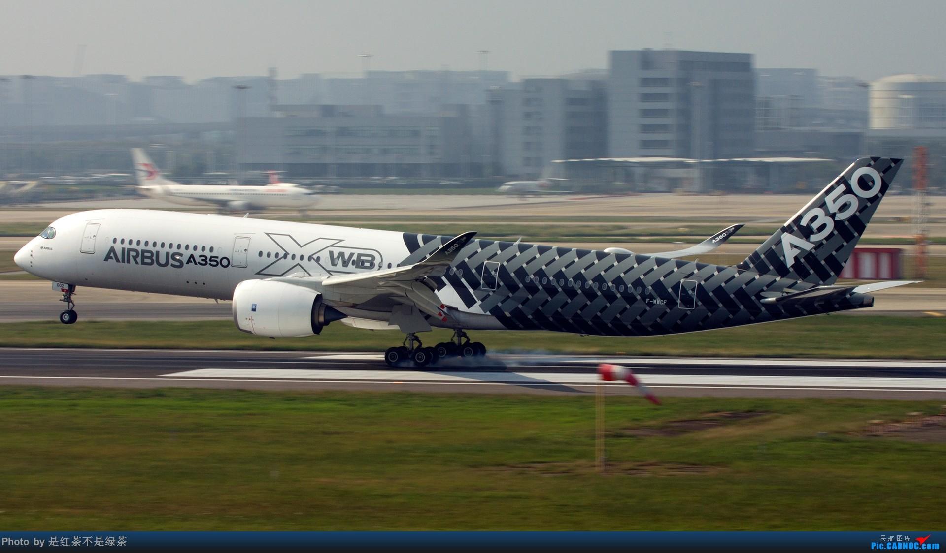 [原创]【红茶拍机】难得冒泡,我来做回一图党,A350虹桥擦烟算不算独家? AIRBUS A350-900 F-WWCF 中国上海虹桥国际机场
