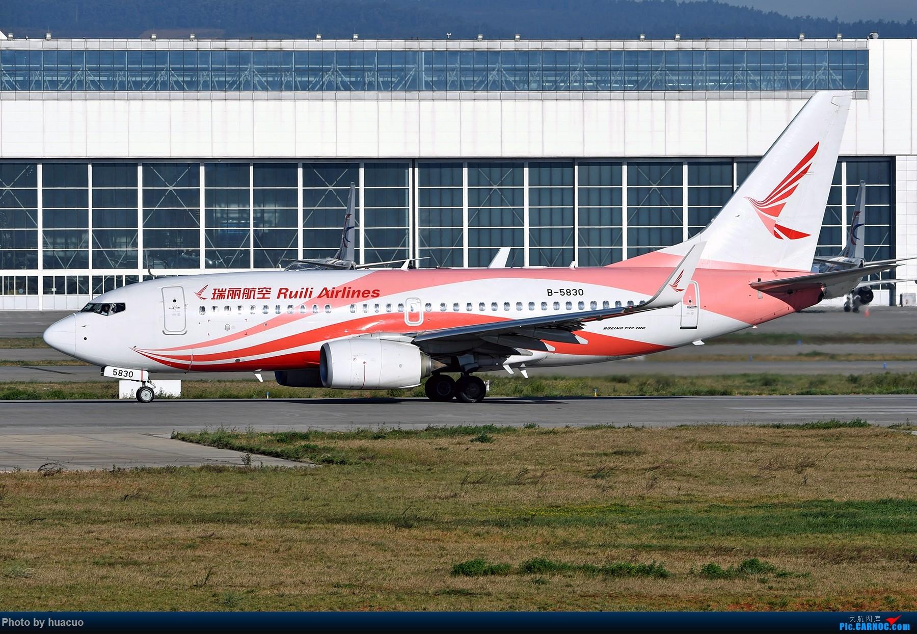 "Re:[原创]【KMG】周末拍机,为了""包头号""来,大部分拍糊了 BOEING 737-700 B-5830 中国昆明长水国际机场"