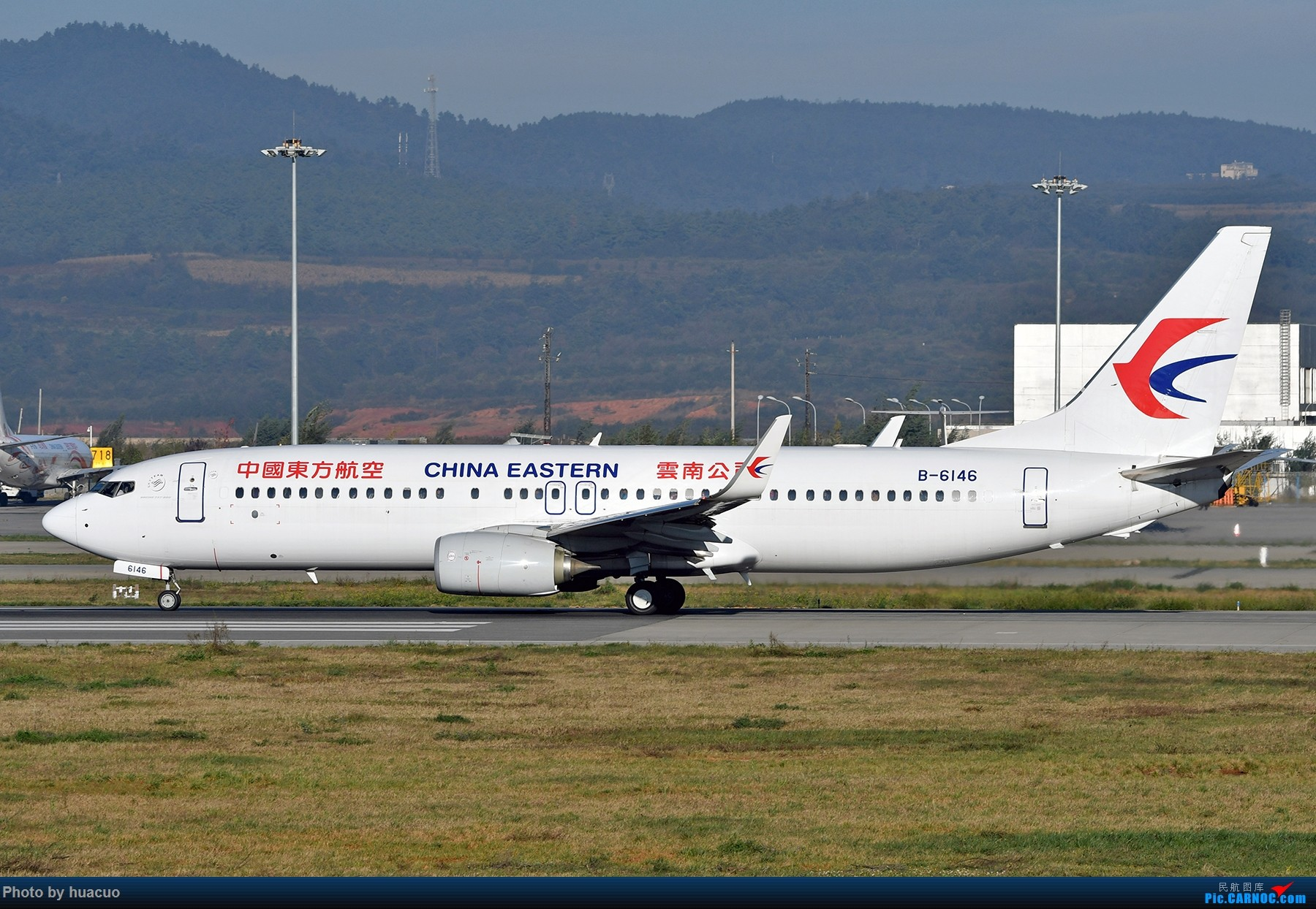 "Re:[原创]【KMG】周末拍机,为了""包头号""来,大部分拍糊了 BOEING 737-800 B-6146 中国昆明长水国际机场"