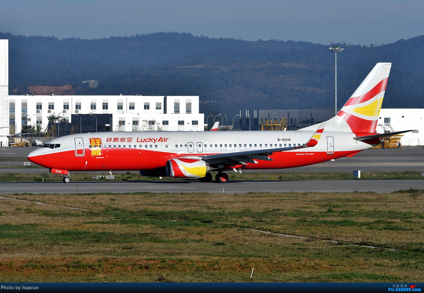 "Re:[原创]【KMG】周末拍机,为了""包头号""来,大部分拍糊了 BOEING 737-800 B-6016 中国昆明长水国际机场"