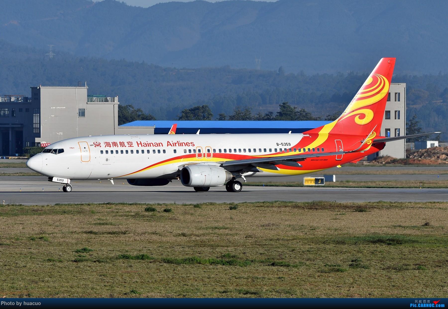 "Re:[原创]【KMG】周末拍机,为了""包头号""来,大部分拍糊了 BOEING 737-800 B-5359 中国昆明长水国际机场"