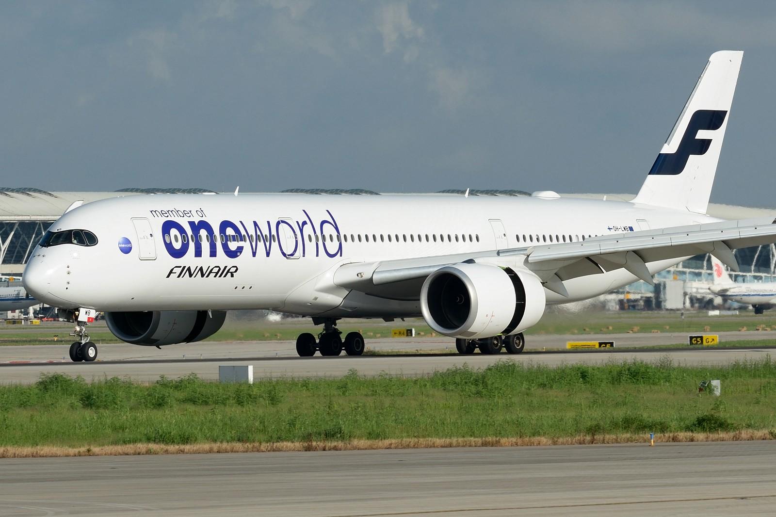 [原创]【PVG】夏日东跑一组~~ AIRBUS A350-900 OH-LWB 中国上海浦东国际机场