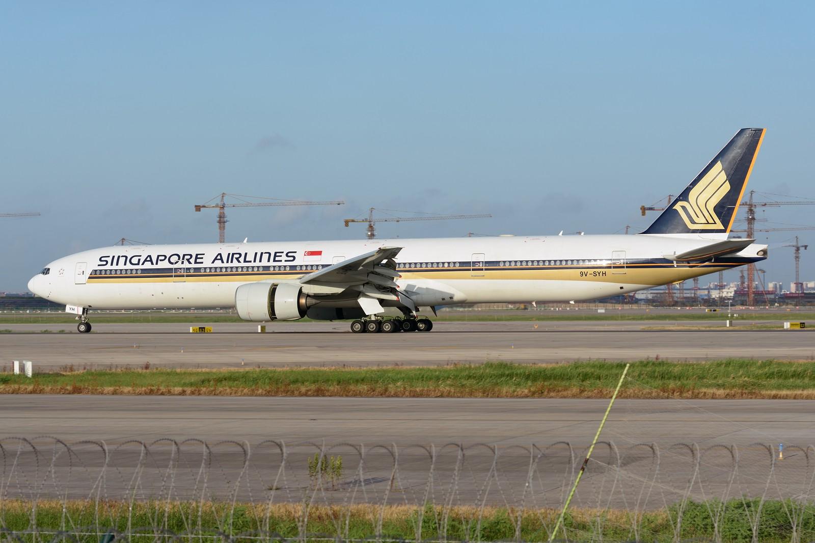 Re:[原创]【PVG】夏日东跑一组~~ BOEING 777-300ER 9V-SYH 中国上海浦东国际机场