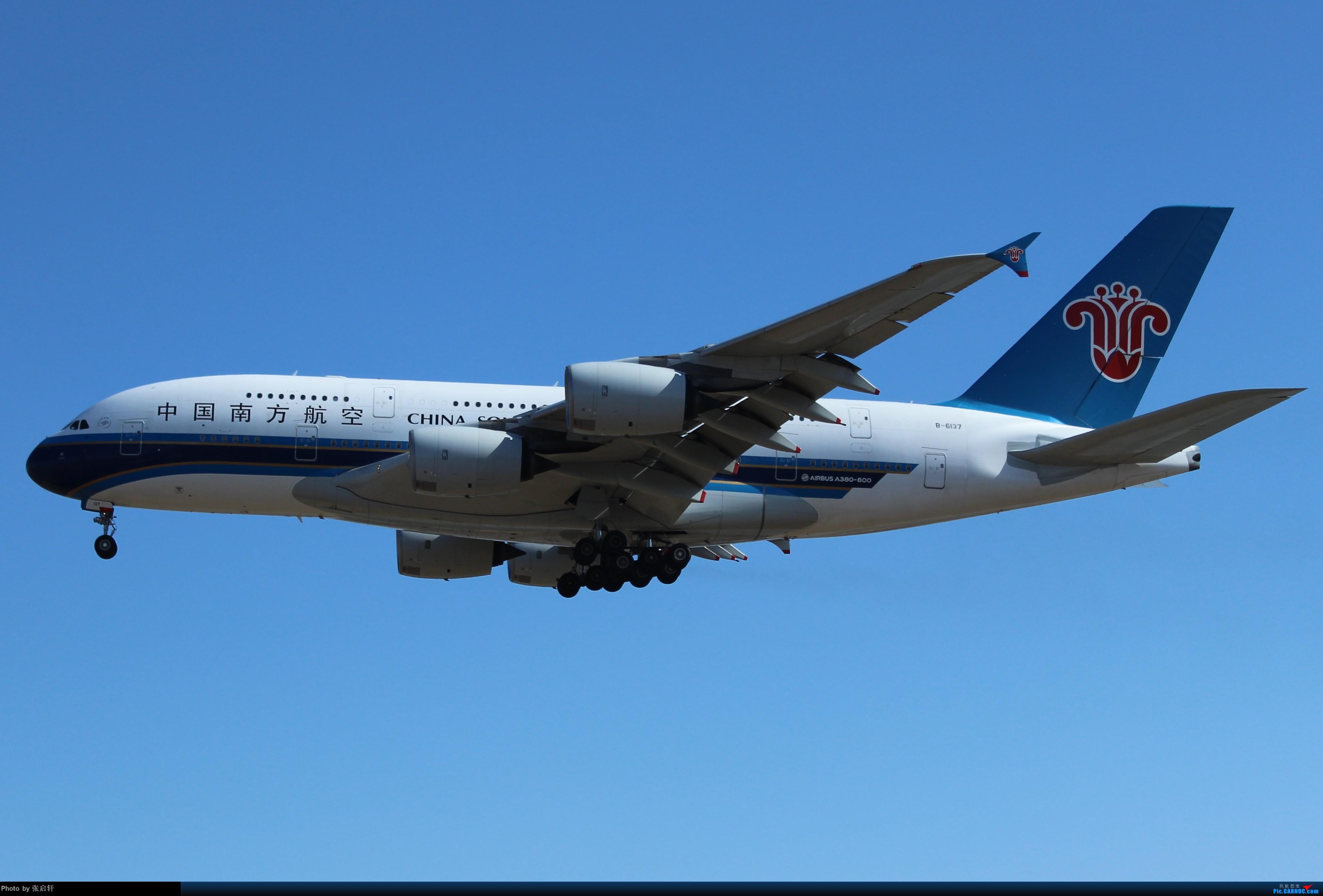 [原创]中国南方航空A380 AIRBUS A380 B-6137 北京首都国际机场