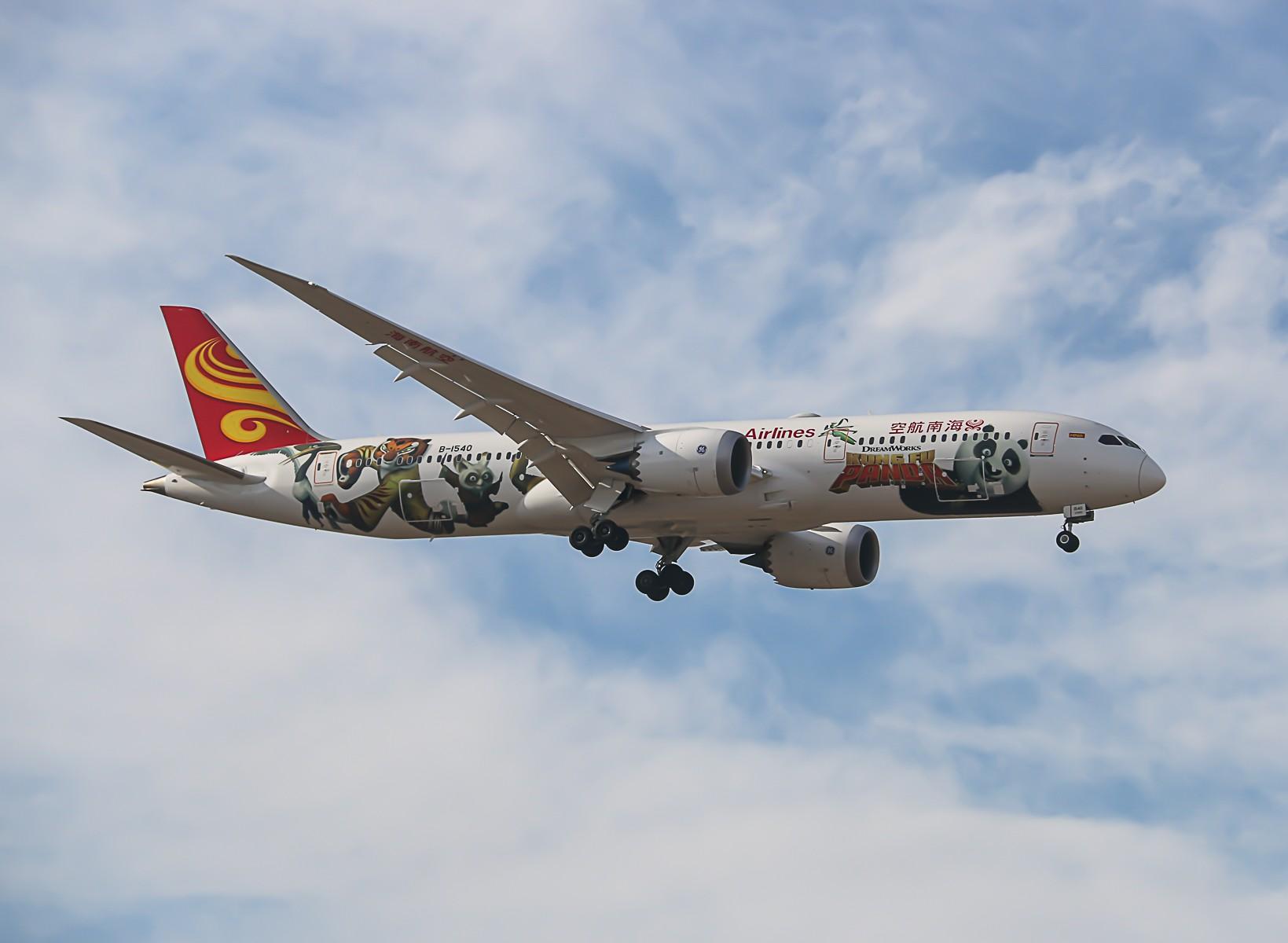 [原创]蓝天白云拍熊猫,海航789功夫熊猫 BOEING 787-9 B-1540
