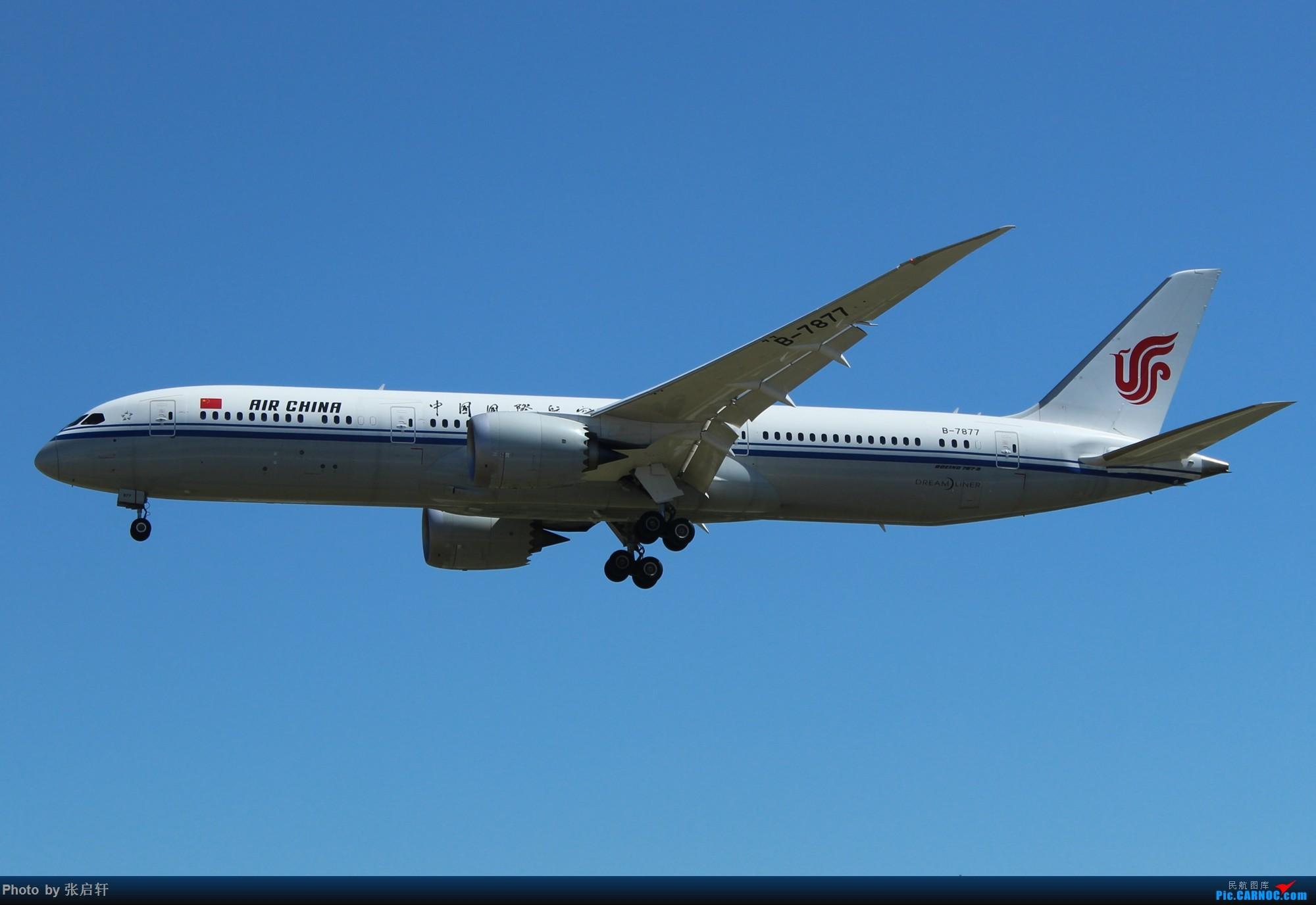 国航第一架B787-9 BOEING 787-9 B-7877 北京首都国际机场