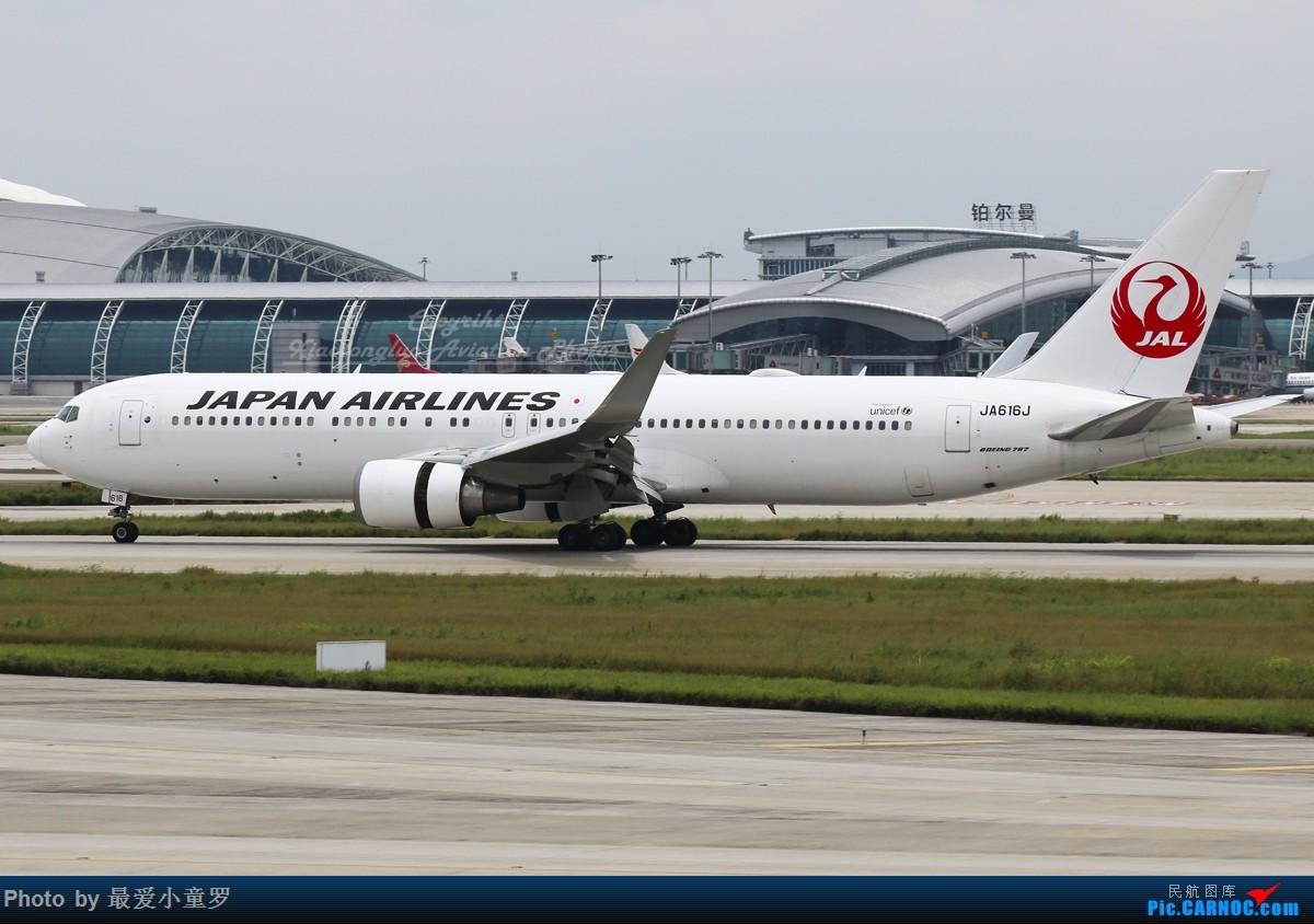 [转贴]两图党——日本两大航空在广州 BOEING 767-300ER JA616J 中国广州白云国际机场