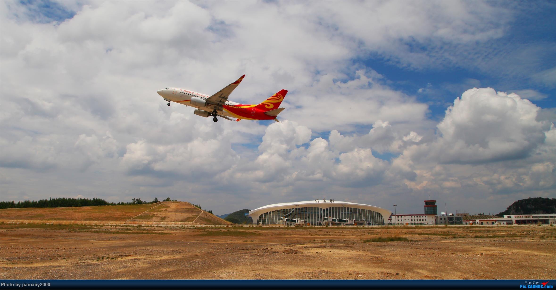 Re:[原创]六盘水月照机场海航航班起飞系列 BOEING 737-700 B-5813 机场巡场道