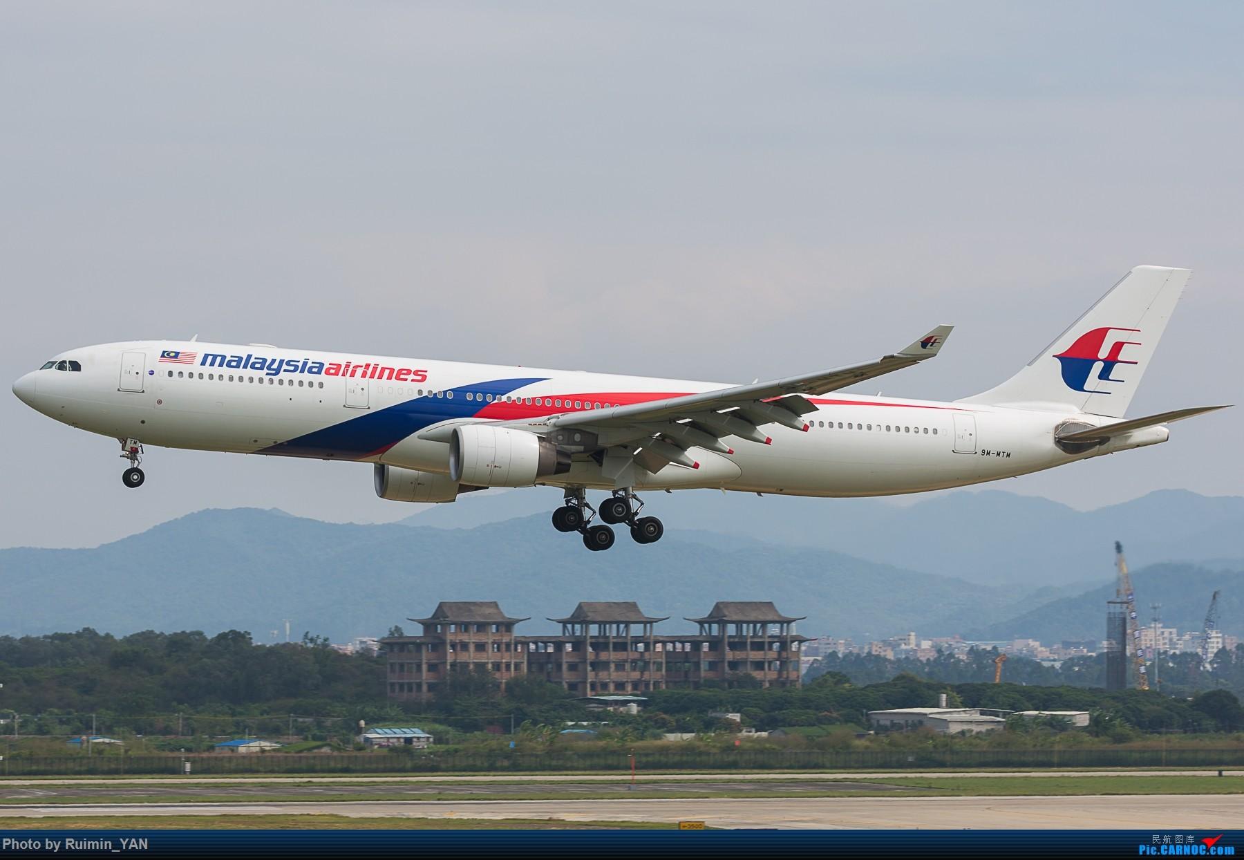 [原创]【CAN】马航(MH,Malaysia Airlines)A333/9M-MTM 一起一落 AIRBUS A330-300 9M-MTM 中国广州白云国际机场
