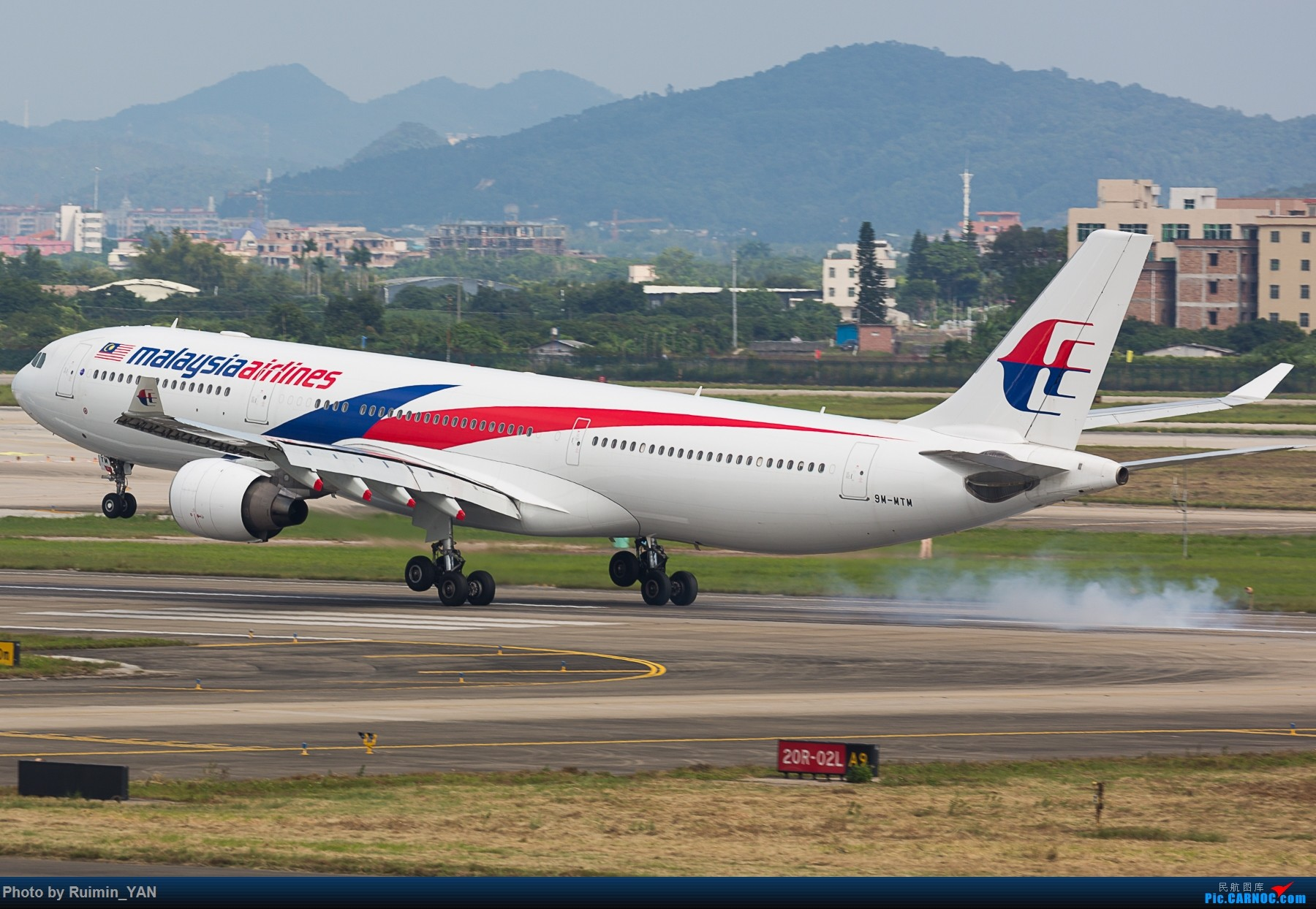 Re:[原创]【CAN】马航(MH,Malaysia Airlines)A333/9M-MTM 一起一落 AIRBUS A330-300 9M-MTM 中国广州白云国际机场