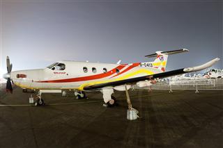 【夜景】【珠海航展】【ZUH】亚捷通航(Yajie General Aviation) 皮拉图斯Pilatus PC-12/47 B-0413