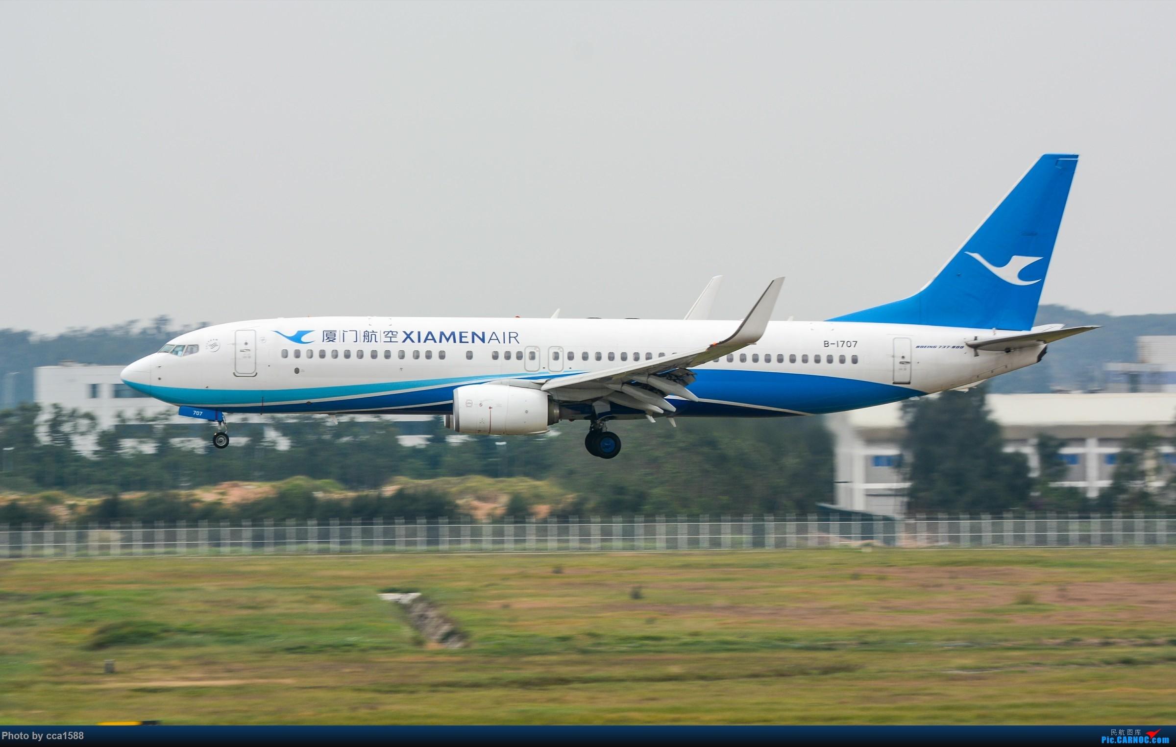 """Re:[原创]【福州飞友会】蹲点两天终于等到你~厦航首架787-9""""金砖梦想号"""" BOEING 737-800 B-1707 中国福州长乐国际机场"""