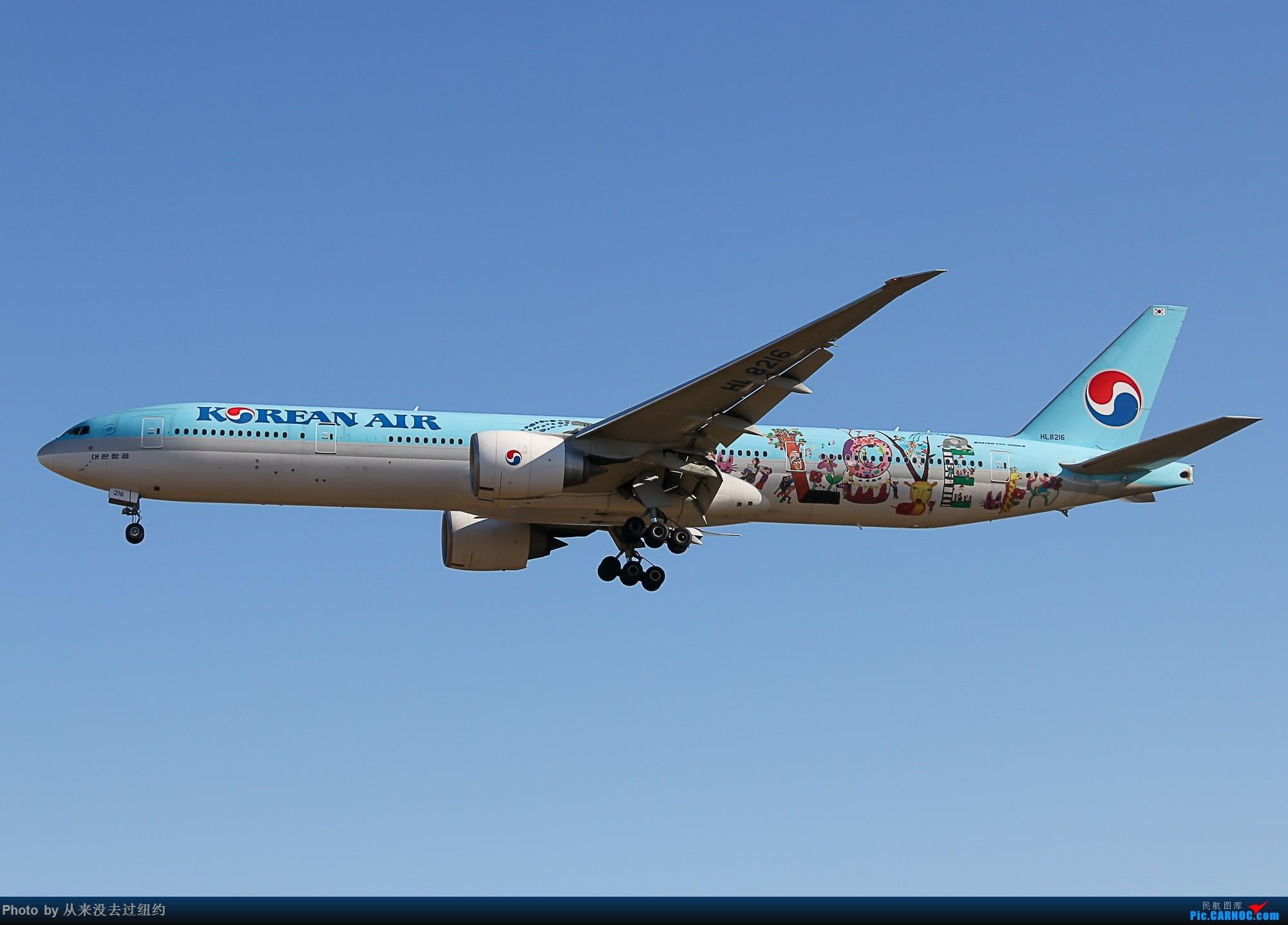 [原创]大韩 LOVE彩绘 BOEING 777-300ER HL8216 中国北京首都国际机场