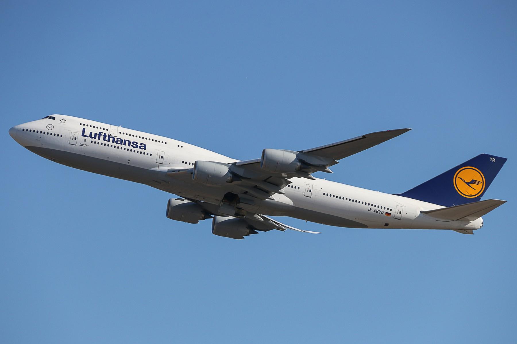 [原创]汉莎748PEK01起飞 BOEING 747-8I D-ABYR 中国北京首都国际机场