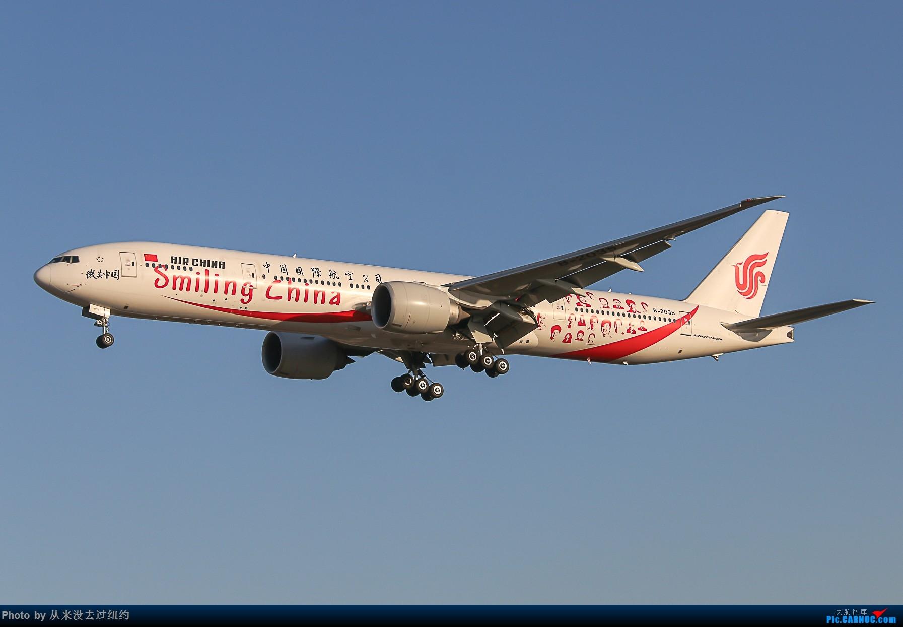 [原创]国航 微笑中国PEK01降落 BOEING 777-300ER B-2035 中国北京首都国际机场