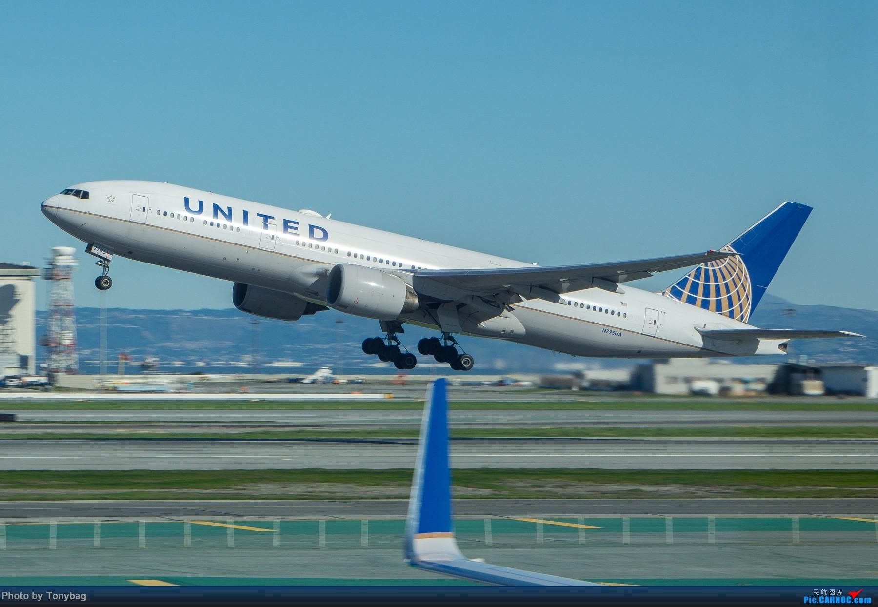 [原创]【SFO】美国联合航空 Boeing 777-200ER N795UA BOEING 777-200ER N795UA 美国旧金山机场