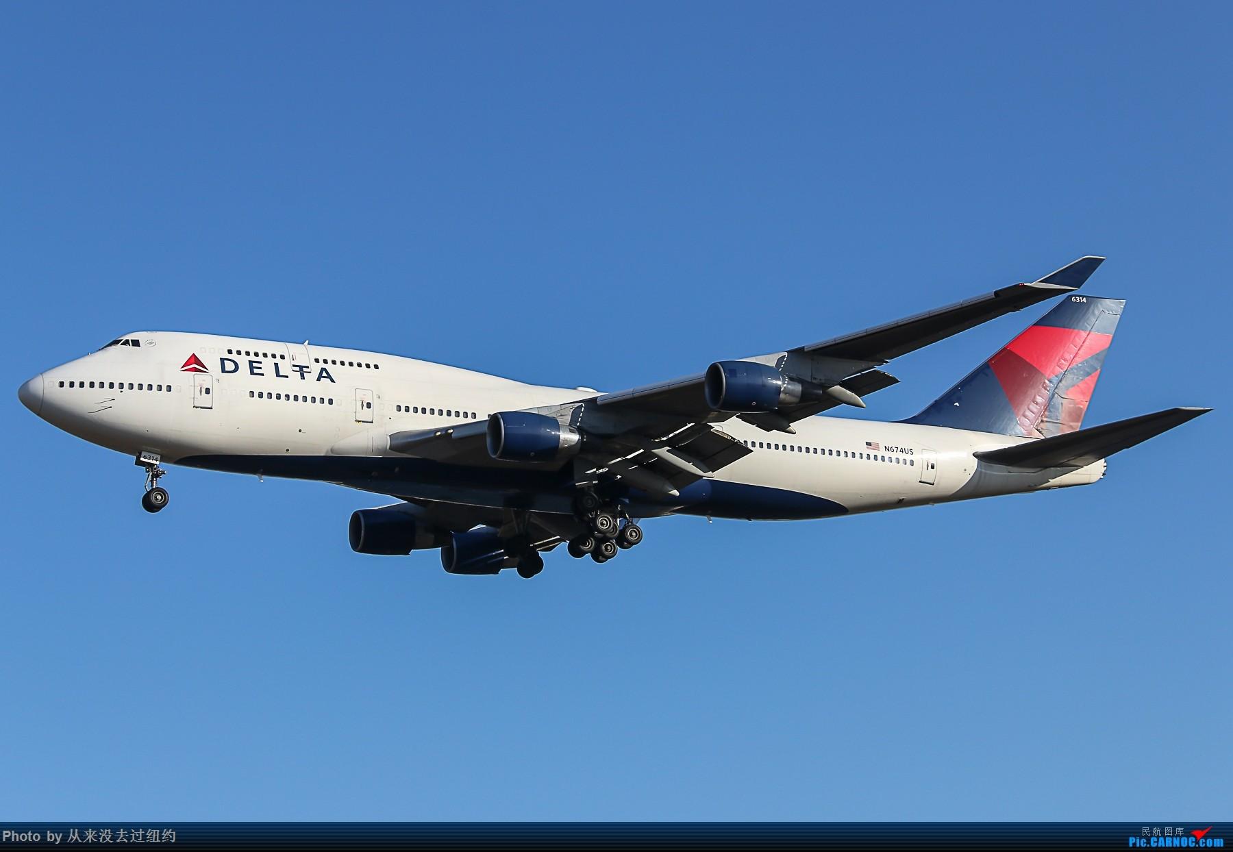 [原创]达美航空 747-400 BOEING 747-400 N674US 中国北京首都国际机场