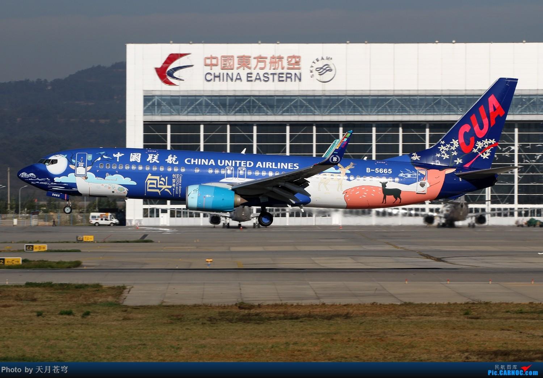 Re:【KMG】发帖以示存在,祝大家2017新年快乐 BOEING 737-800 B-5665 中国昆明长水国际机场