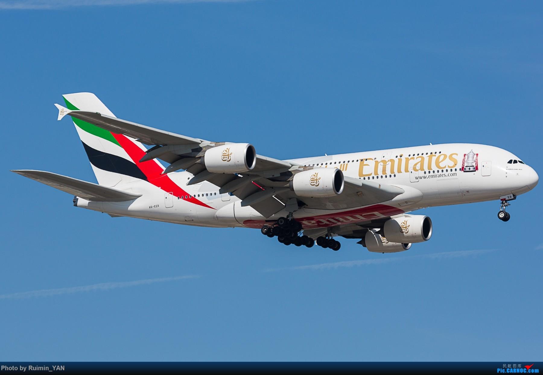 Re:[原创]【PEK】【彩绘】阿联酋(EK,Emirates)足总杯(现已涂成普装)A380 A6-EER AIRBUS A380-800 A6-EER 中国北京首都国际机场