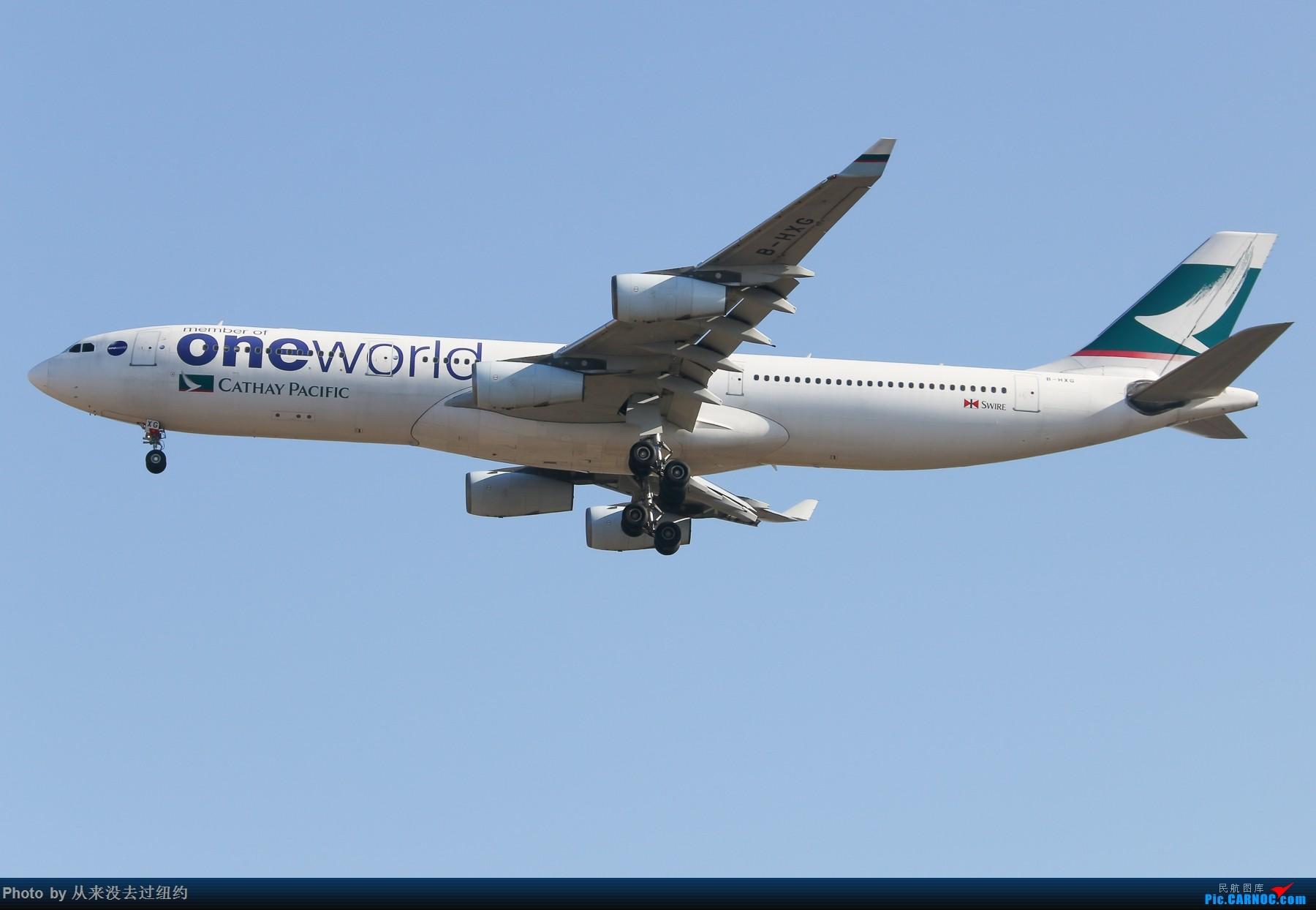 [原创]国泰340-300one world 彩绘 PEK 01降落 AIRBUS A340-300 B-HXG 中国北京首都国际机场
