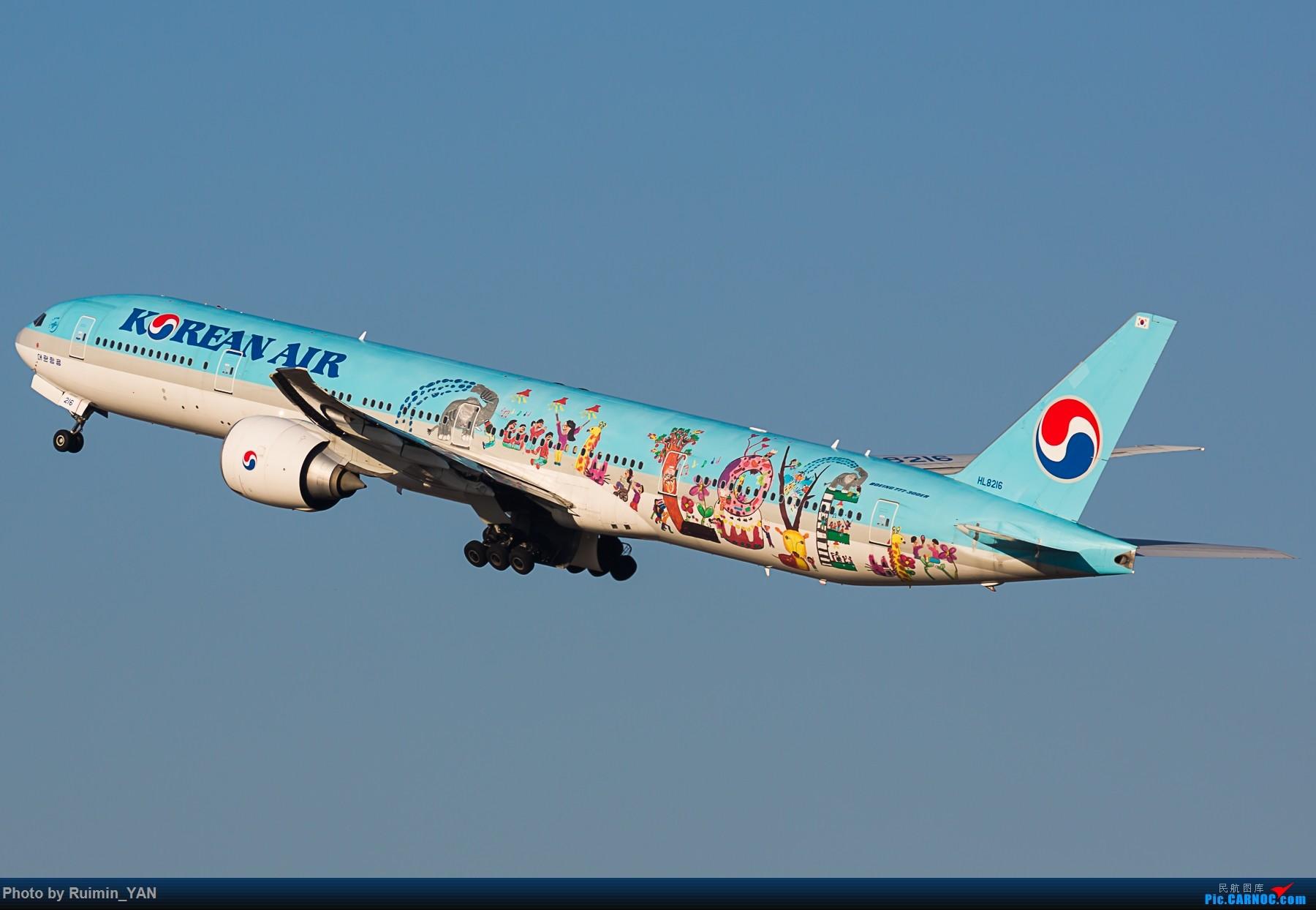 Re:[原创]【TSN】【彩绘】【2016年最后一贴】【一机26图】偶遇最多的外航飞机:大韩之爱 起降,推出 77W/HL8216 BOEING 777-300ER HL8216 中国天津滨海国际机场
