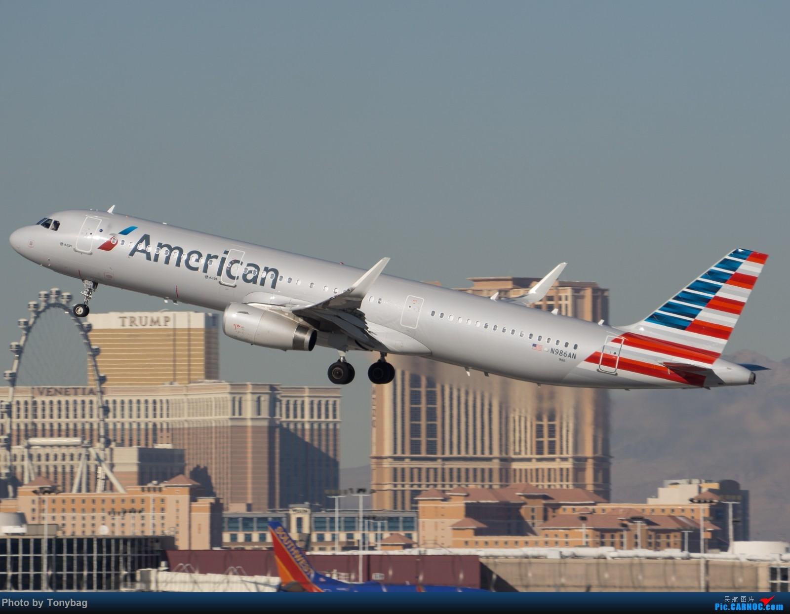 [原创]【LAS】AA321飞越川普酒店 AIRBUS A321-200 N986AN 拉斯维加斯麦卡伦国际机场