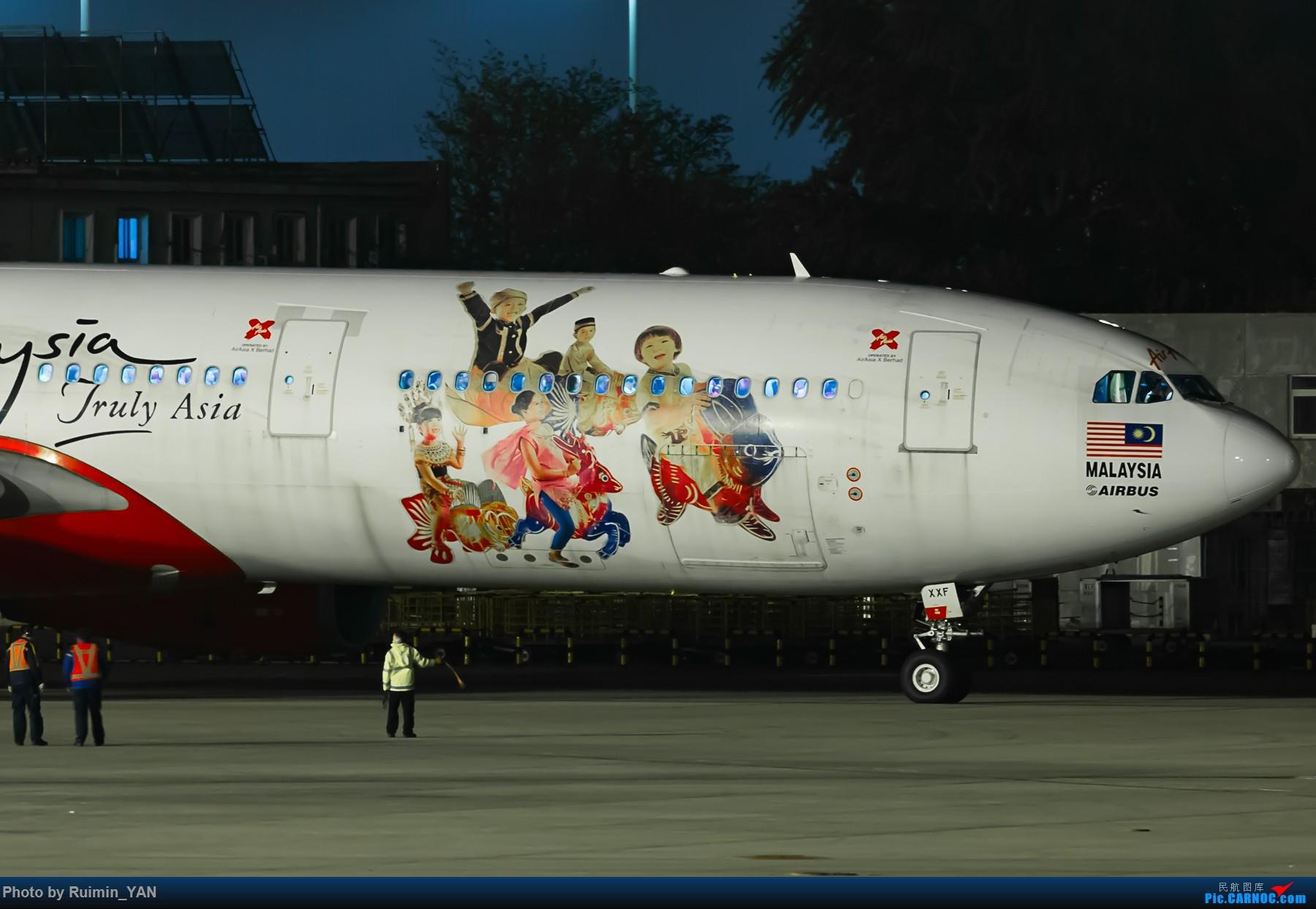 Re:[原创]【夜景】【PEK】【彩绘】亚洲航空X(D7) ''Now Everyone Can Fly To Malaysia'' A333/9M-XXF AIRBUS A330-300 9M-XXF 中国北京首都国际机场