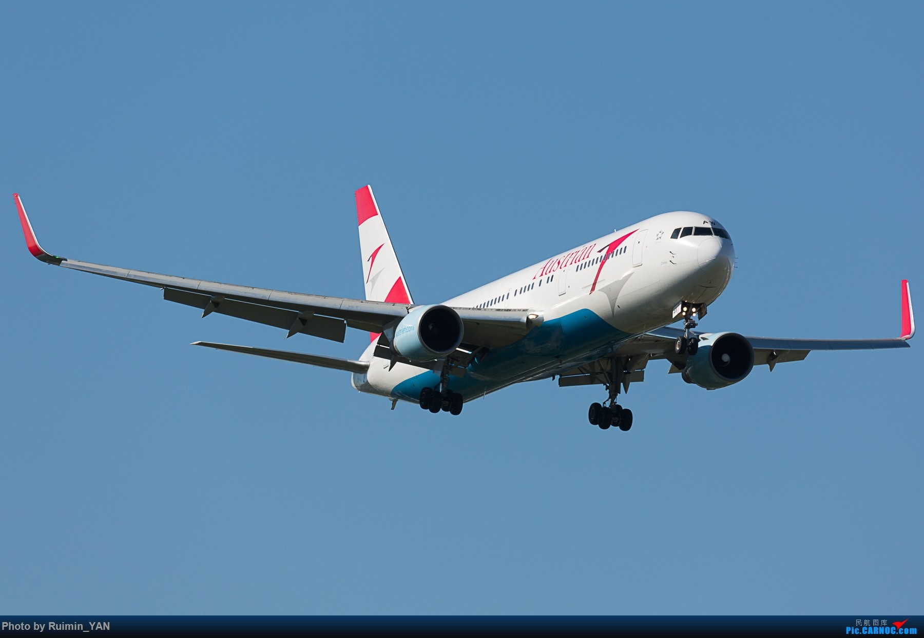 [原创]【PEK】奥地利航空 中国号(OS,Austrian Airlines,China)763 OE-LAW BOEING 767-300ER OE-LAW 中国北京首都国际机场