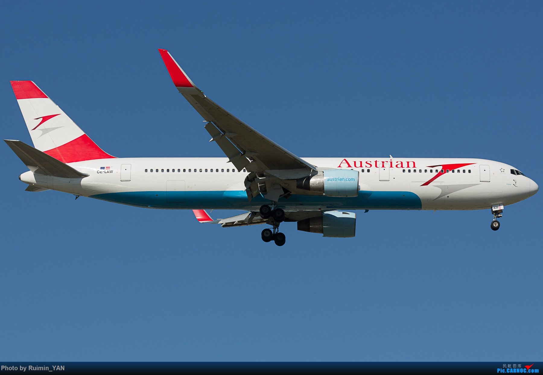 Re:[原创]【PEK】奥地利航空 中国号(OS,Austrian Airlines,China)763 OE-LAW BOEING 767-300ER OE-LAW 中国北京首都国际机场