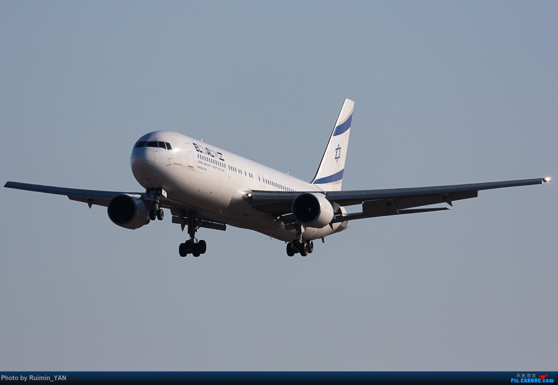 [原创]【PEK】以色列航空 老涂装(LY,El Al Israel Airlines)763 4X-EAK BOEING 767-300ER 4X-EAK 中国北京首都国际机场