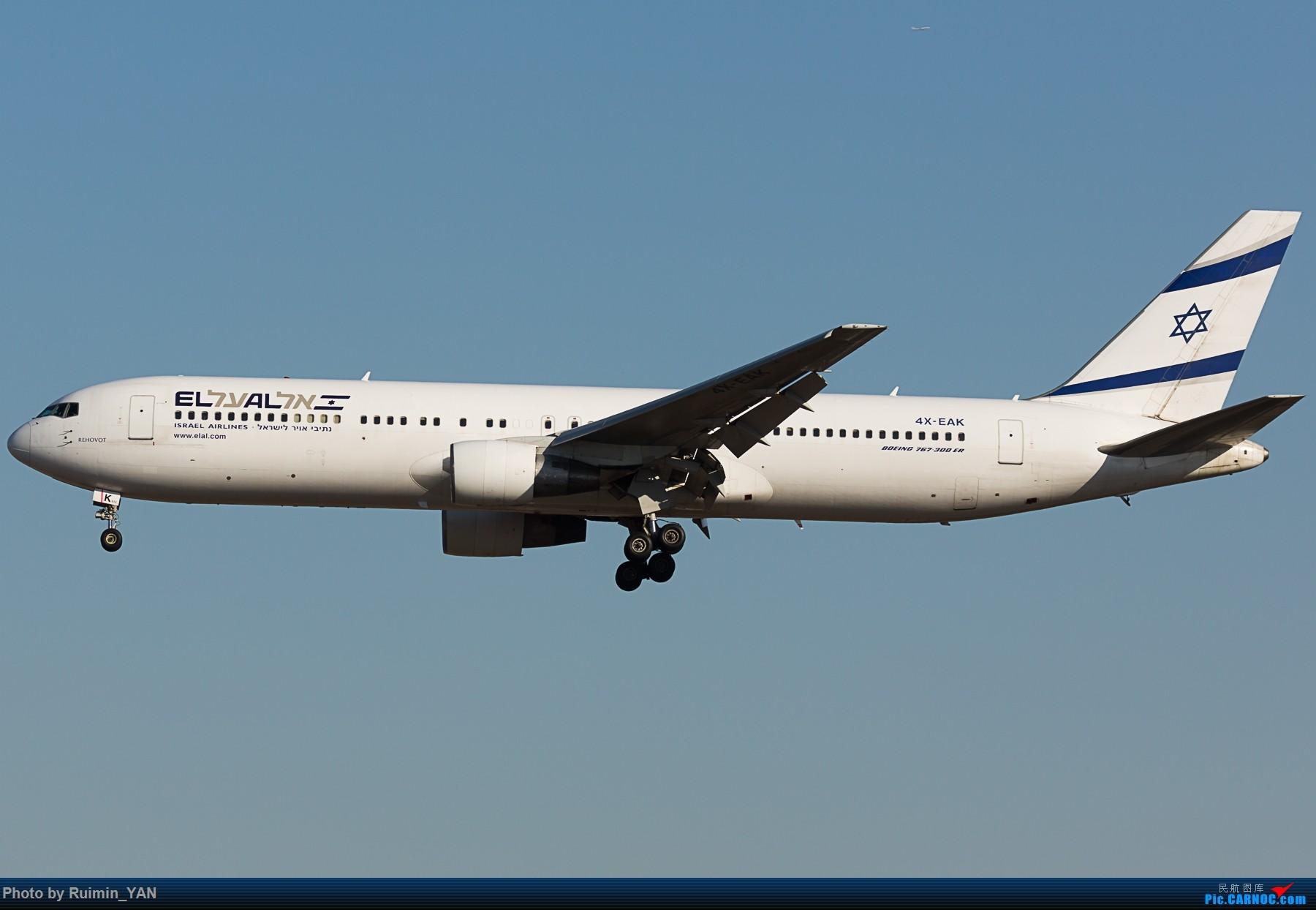 Re:[原创]【PEK】以色列航空 老涂装(LY,El Al Israel Airlines)763 4X-EAK BOEING 767-300ER 4X-EAK 中国北京首都国际机场