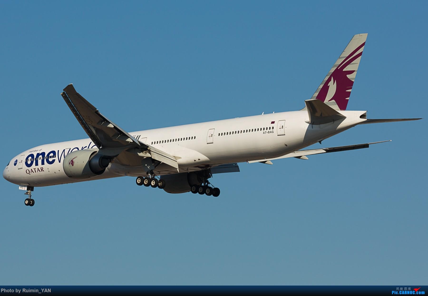 Re:[原创]【PEK】【彩绘】卡塔尔航空寰宇一家(QR,Qatar,oneworld) 77W A7-BAG BOEING 777-300ER A7-BAG 中国北京首都国际机场