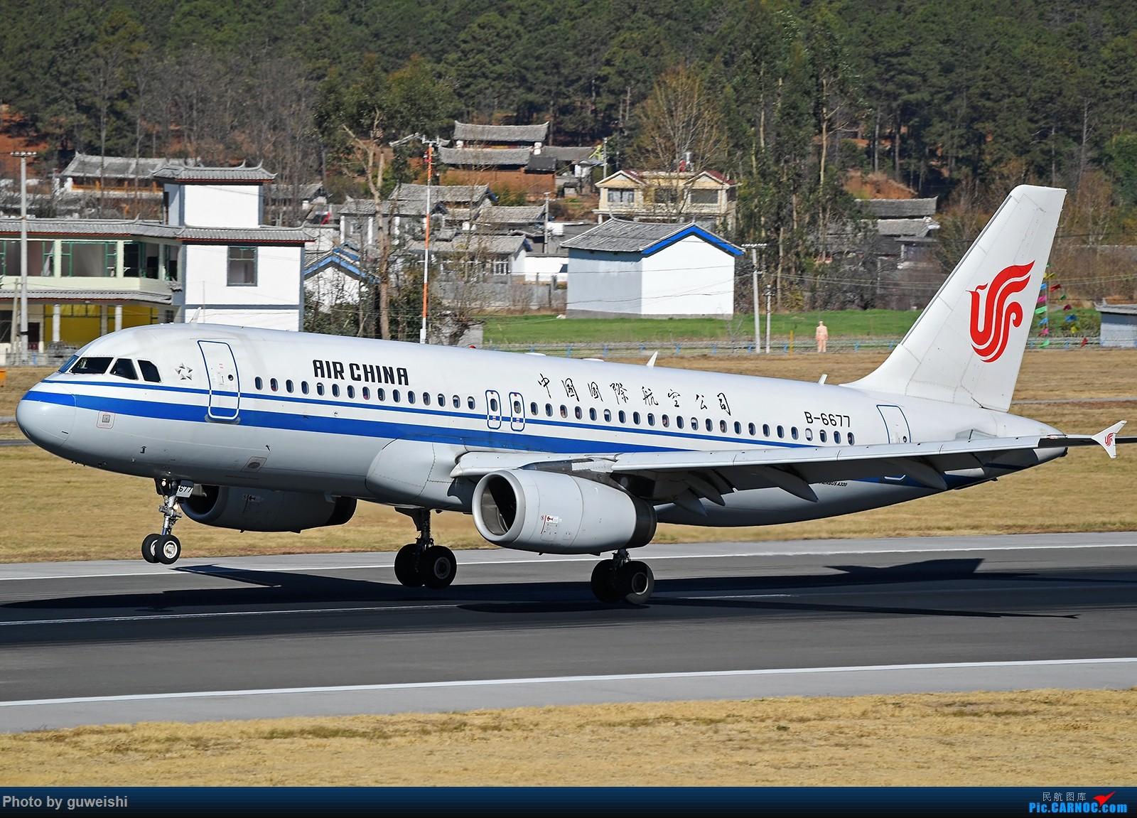Re:[原创]【七彩天空】——雪山下的飞机,丽江三义半日拍 AIRBUS A320-200 B-6677 中国丽江三义机场