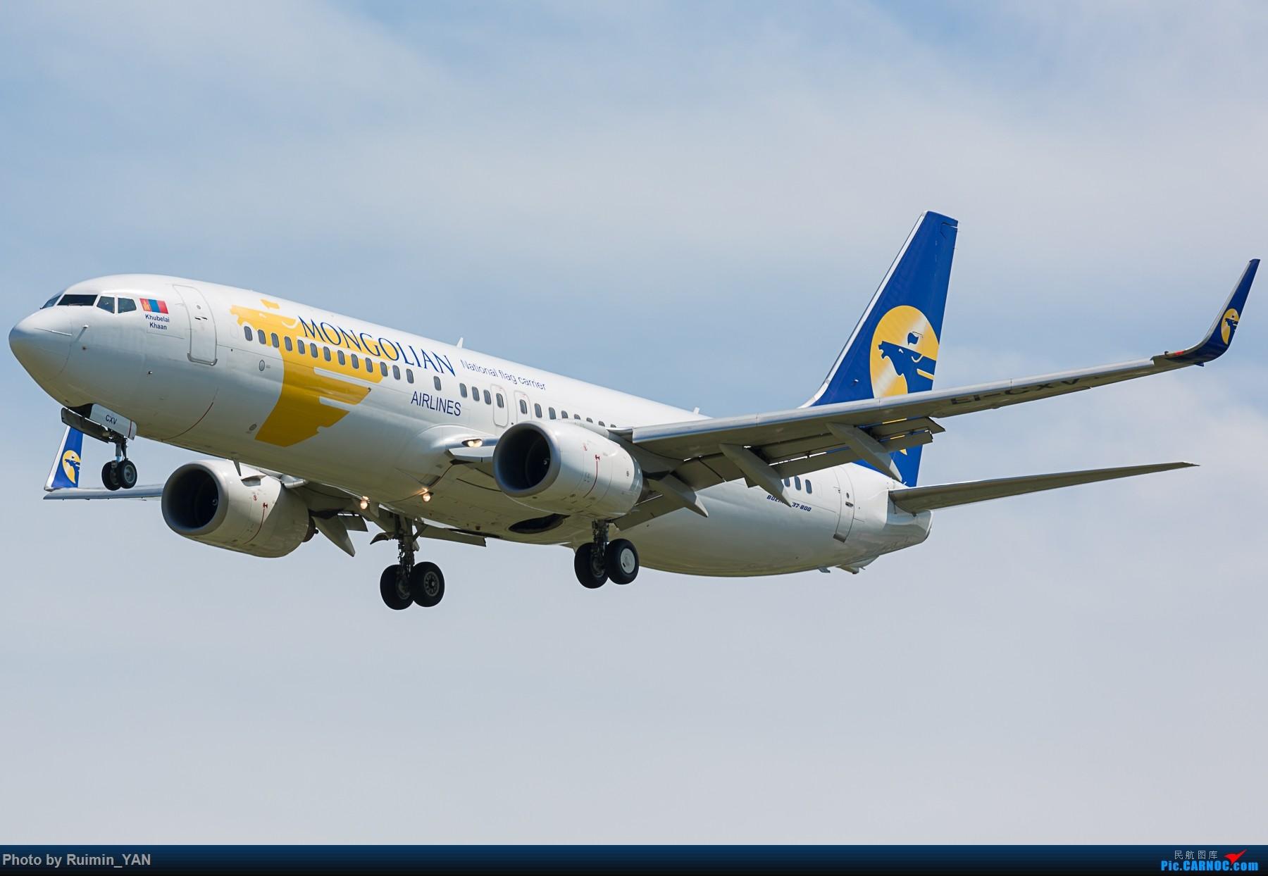 [原创]【PEK】【砖机】蒙古总统查希亚·额勒贝格道尔吉访华 蒙古航空(OM) 738 BOEING 737-800 EI-CXV 中国北京首都国际机场