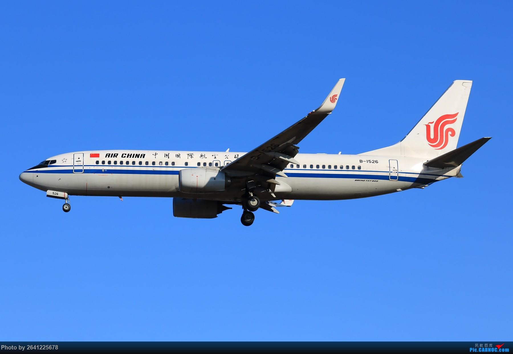 Re:[原创]【PEK】六七级北风吹走了雾霾,吹不走拍机的热情!1800*1200/1920*1280一组 图片略多,慢慢发 BOEING 737-800 B-1526 中国北京首都国际机场