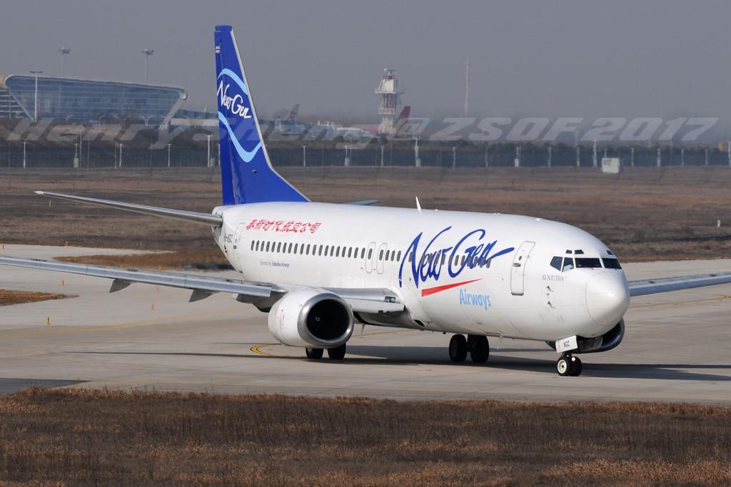 Re:[原创]2017年第一拍,久违的新桥机场跑道33头 BOEING 737-400 HS-NGC 中国合肥新桥国际机场