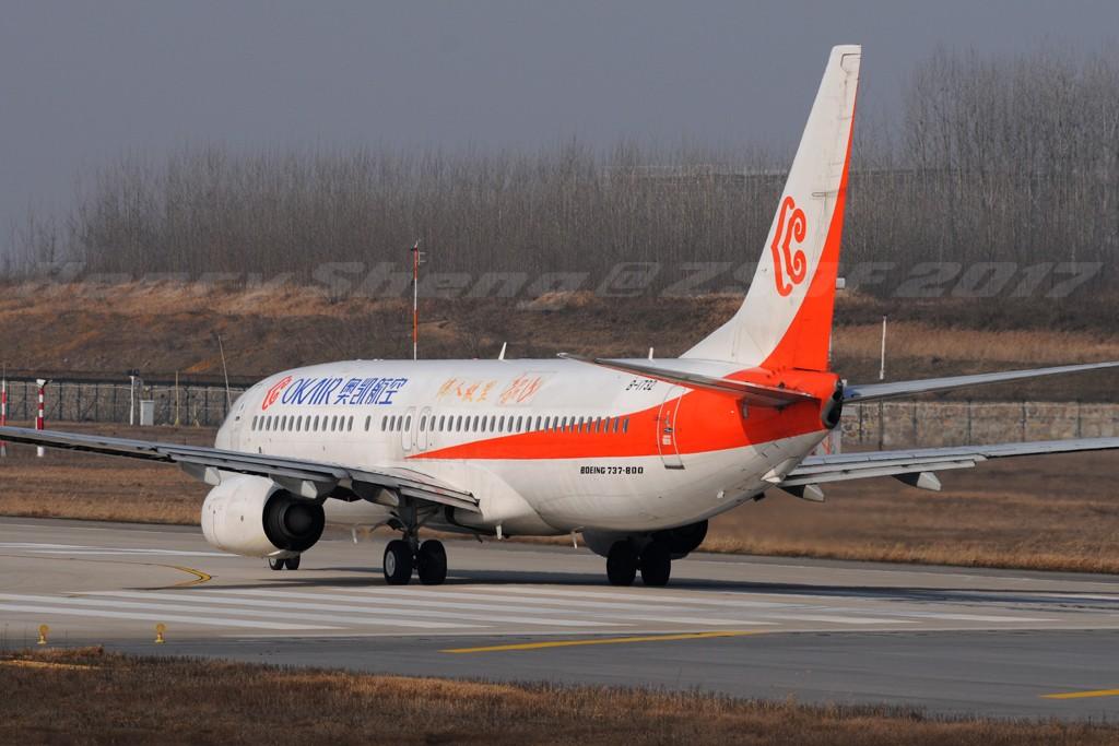 Re:[原创]2017年第一拍,久违的新桥机场跑道33头 BOEING 737-800 B-1732 中国合肥新桥国际机场