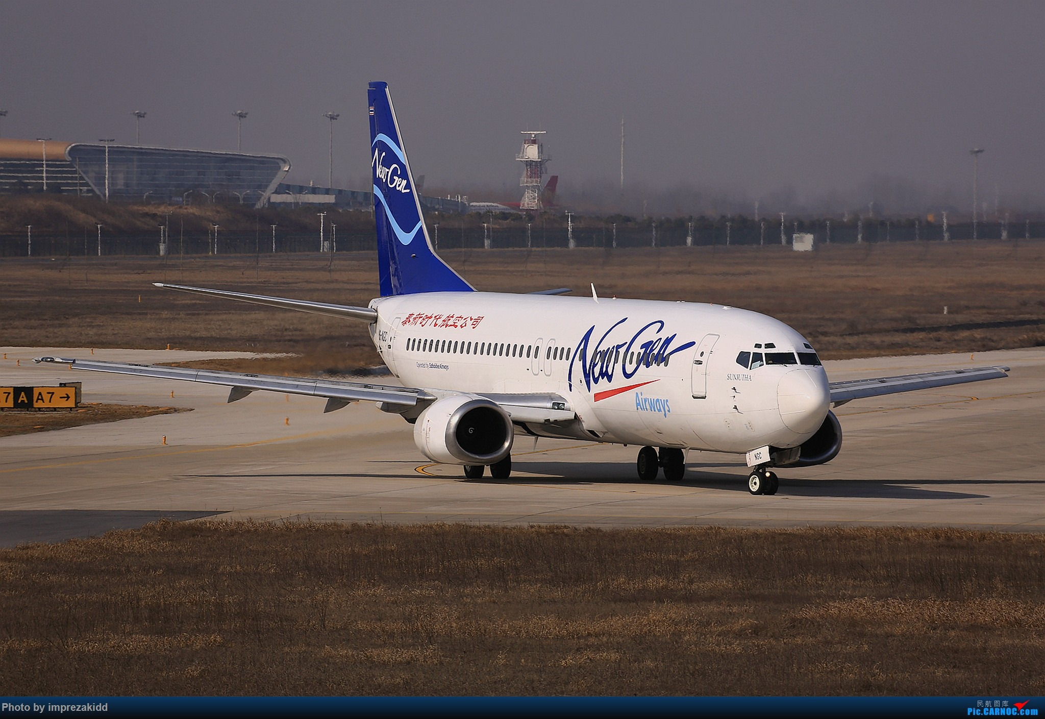 Re:[原创]【合肥飞友会·霸都打机队】又是一年拍机时《上半场》 BOEING 737-400 HS-NGC 中国合肥新桥国际机场