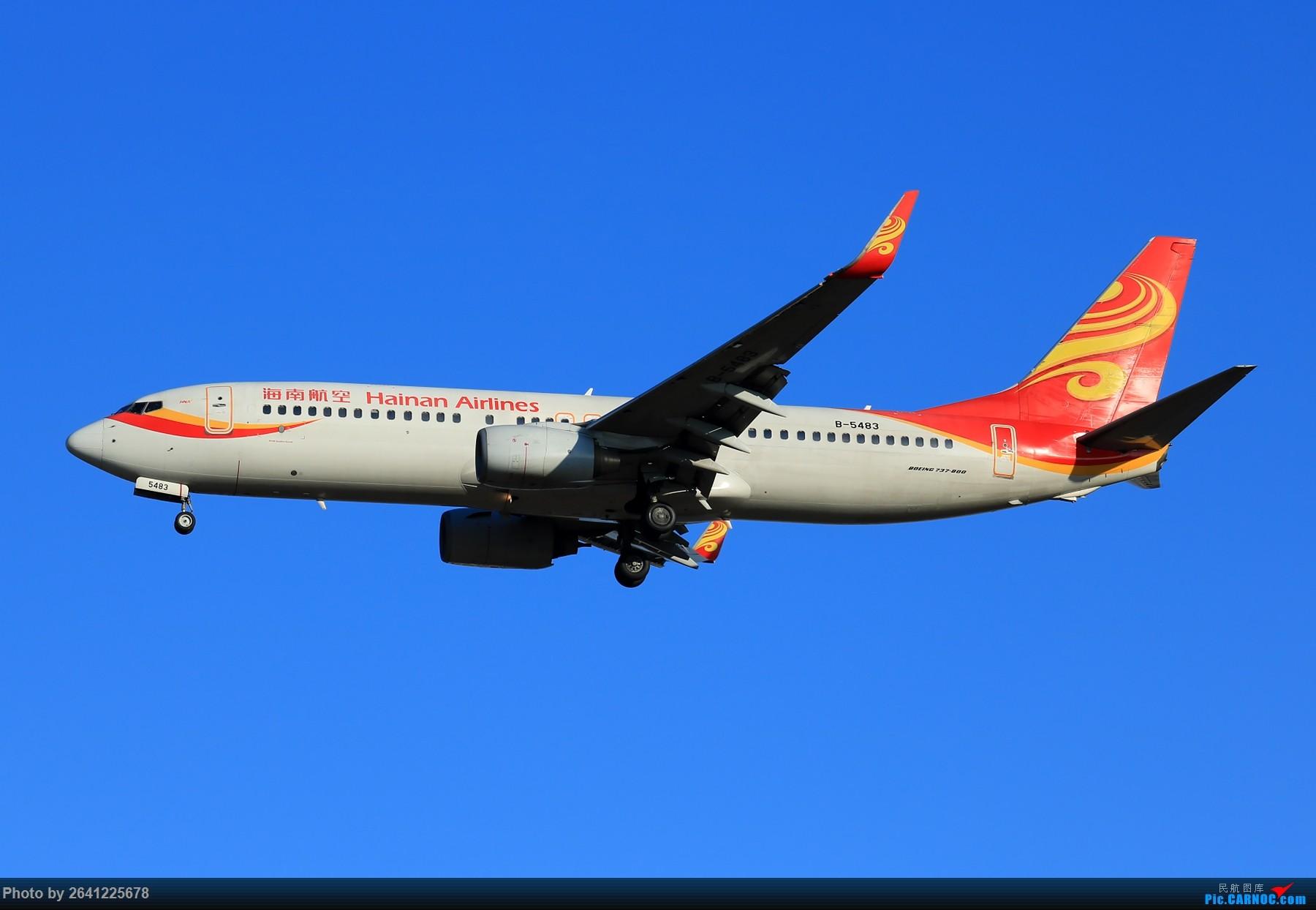 Re:[原创]【PEK】六七级北风吹走了雾霾,吹不走拍机的热情!1800*1200/1920*1280一组 图片略多,慢慢发 BOEING 737-800 B-5483 中国北京首都国际机场