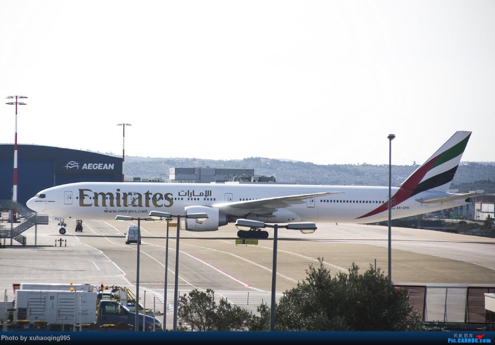 [原创]雅典机场外随拍 BOEING 777-300ER A6-EPO ATH