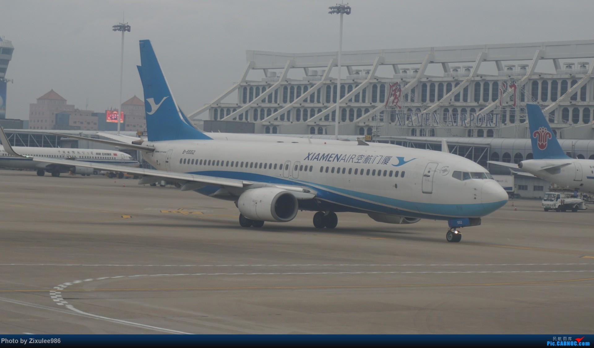 Re:[原创]新年第一次出行~…XMN-NGB-CGO 沿途拍机..多图 BOEING 737-85C B-5552 中国厦门高崎国际机场