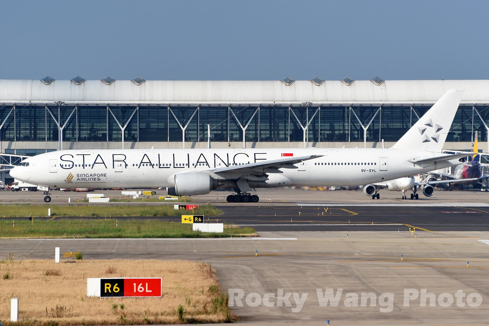 Re:[原创]白与黑 BOEING 777-300 9V-SYL 中国上海浦东国际机场