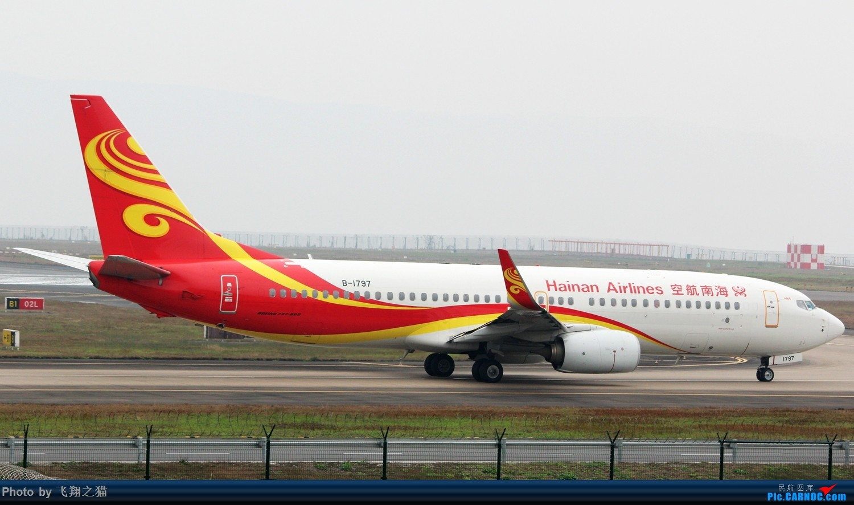 Re:[原创]2017CKG春运最后一拍(南航天合332) BOEING 737-800 B-1797 重庆江北国际机场