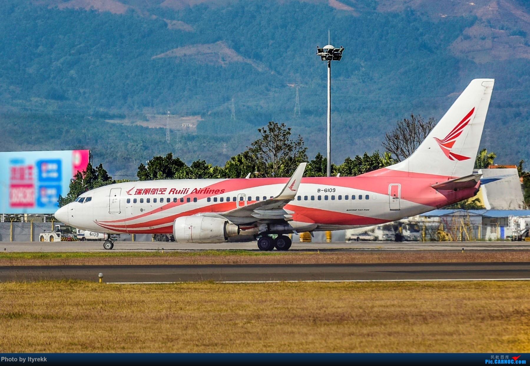 Re:[原创]假期都快完了,不发点图实在惭愧 BOEING 737-700 B-6109 中国芒市机场