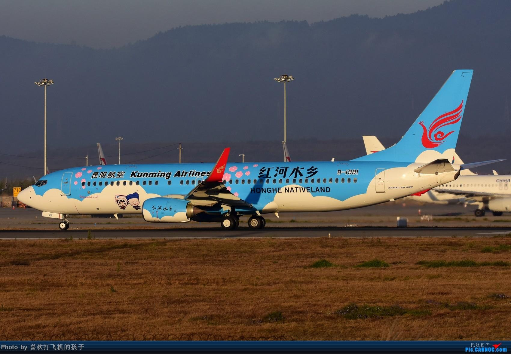 Re:[原创]【机机的飞飞】 KMG昆明长水,年初存货 BOEING 737-800 B-1991 中国昆明长水国际机场