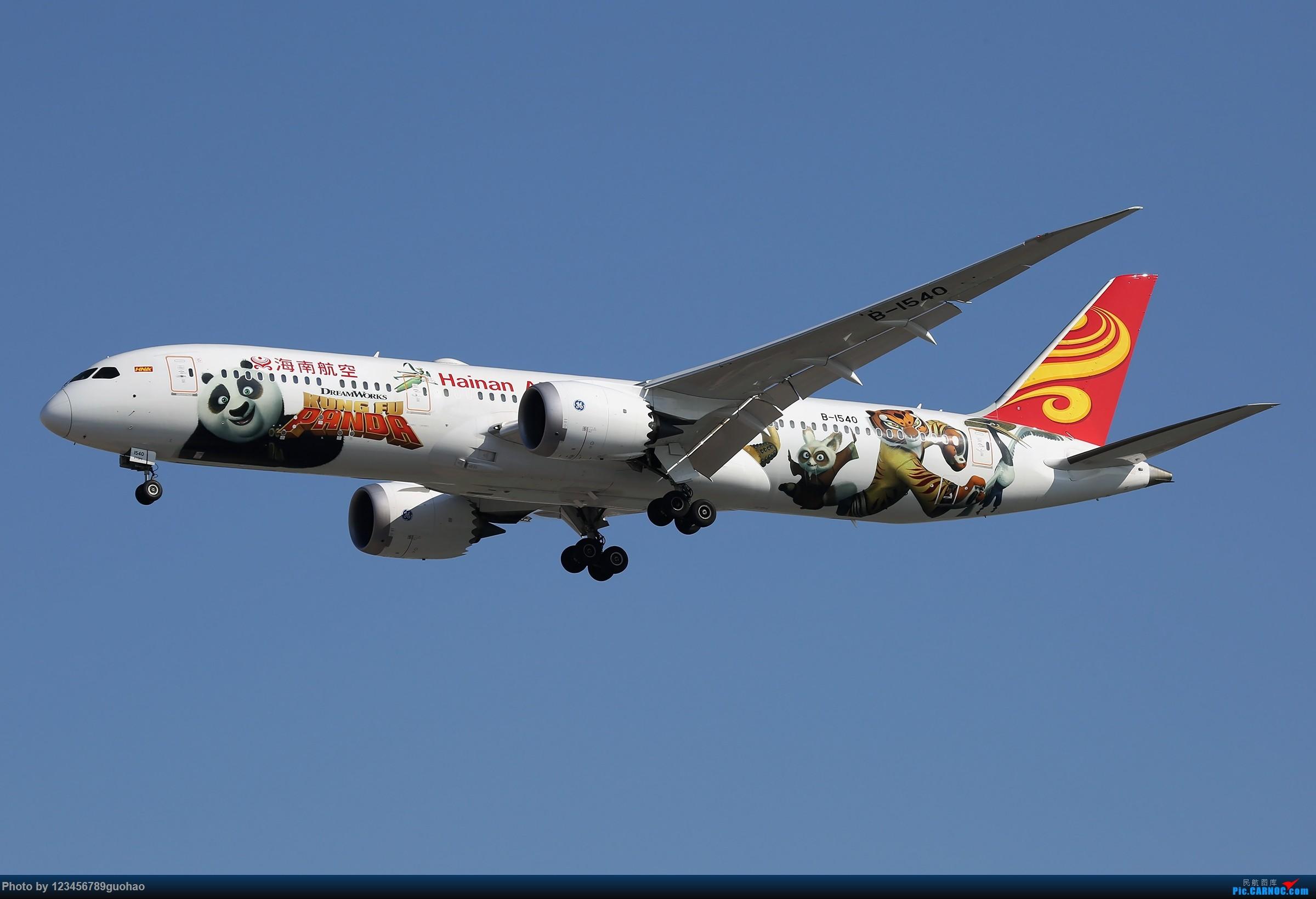 海南白熊猫迎来送往 BOEING 787-9 B-1540 北京首都国际机场