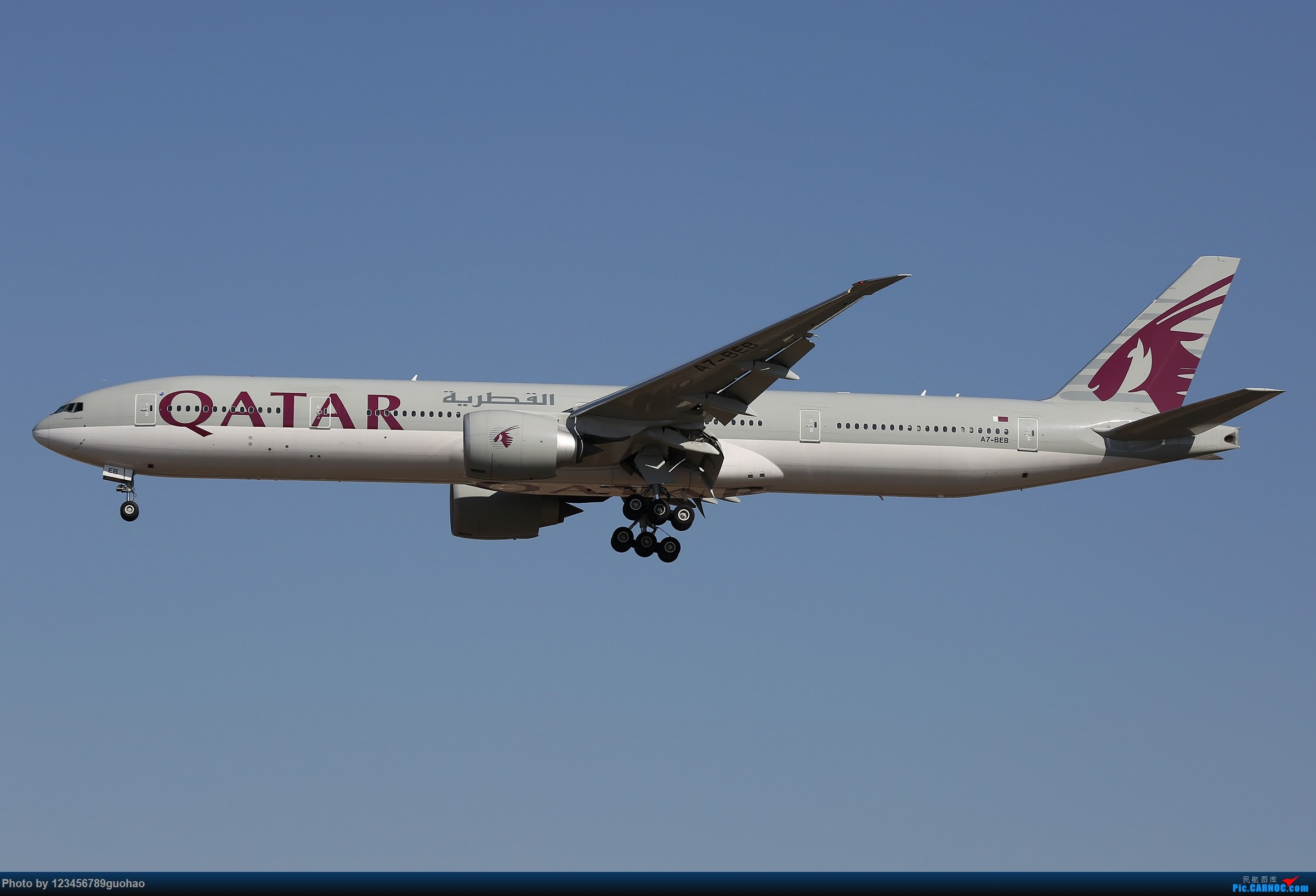 Re:[原创]阿联酋保护野生动物 BOEING 777-300ER A7-BEB 北京首都国际机场