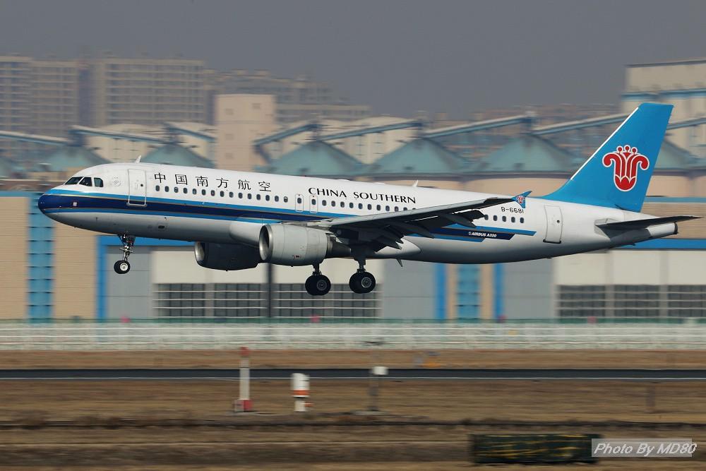 [原创][DLC外场] 周末 AIRBUS A320-200 B-6681 中国大连国际机场